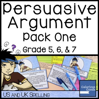Persuasive Argument Writing Prompt Pack One