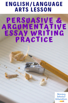 Argumentative essay lesson plan