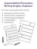 Persuasive/Argumentative Writing Graphic Organizers
