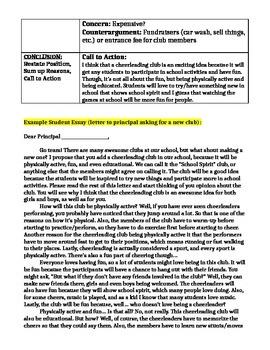 Persuasive / Argumentative Writing Outline, Student Sample Outline & Essay