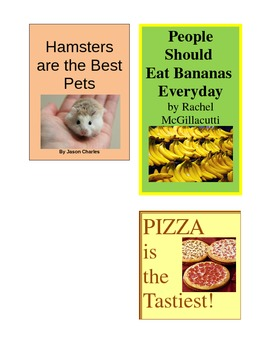 Persuasive Book Covers for Author's Purpose (Persuade, Inform, Entertain)