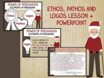 Persuasive Christmas Letter LESSON and ACTIVITY - Ethos, Pathos, Logos -No-Prep