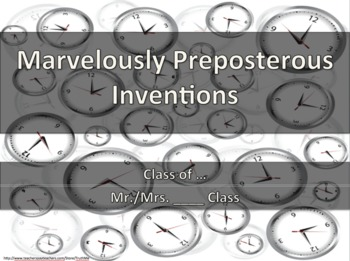 Persuasive Creative Writing Invention Book Activity