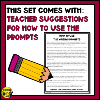 Daily Persuasive Writing Prompts - All 3 Sets