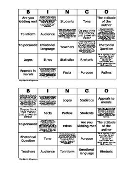 Persuasive Devices Bingo Activity