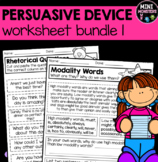 Persuasive Devices Worksheets