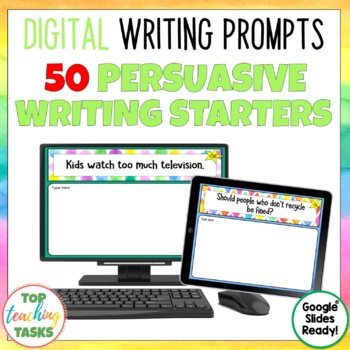 Persuasive Digital Writing Prompts for Google Drive®