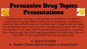 controversial drug debate topics presentation by mrs bjorks health  controversial drug debate topics presentation