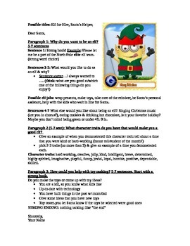 Persuasive Elf writing