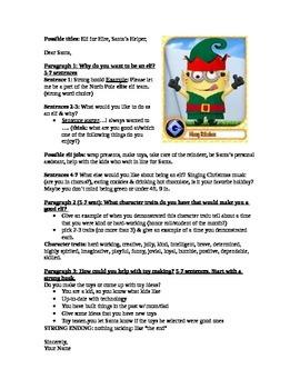 Persuasive Elf writing