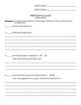 Persuasive Essay Full Assignment Lesson