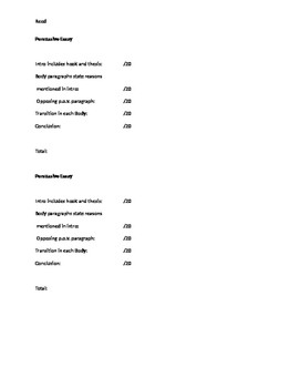 Persuasive Essay Bundle