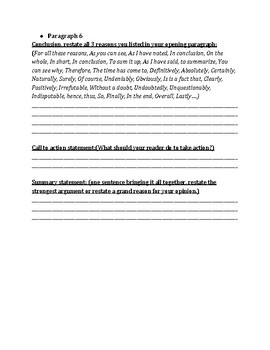 Persuasive Essay Draft Form