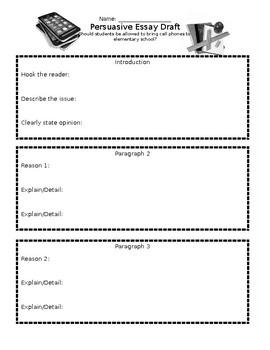 Persuasive Essay Draft Sheet
