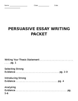 persuasive essay drafting packet by ms smiths survival kit  tpt