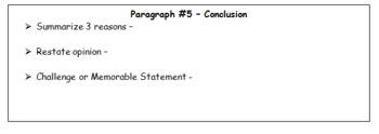 Persuasive Essay Graphic Organizer--Essay Helper