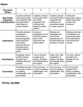 Persuasive Essay Guide (With Common Core Standards!)