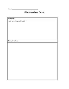 Persuasive Essay Kit - Design a Philanthropy