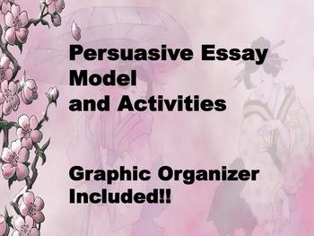 Persuasive Essay Model and Activities
