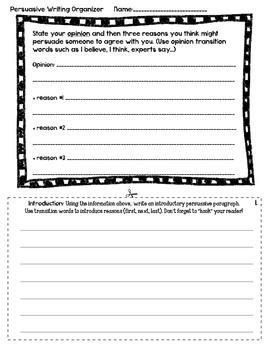 Persuasive Essay/Letter Organizer
