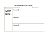 Persuasive Essay- Organizer and Pre-writing