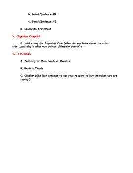Persuasive Essay Outline