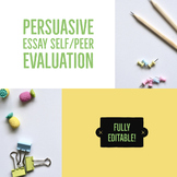 Persuasive Essay Peer Evaluation Sheet