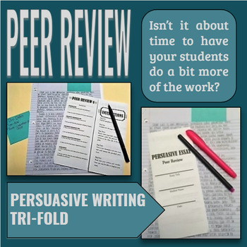 Persuasive Essay Peer Review FOLDABLE!