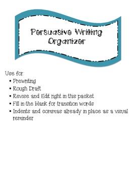 Persuasive Writing Organizer- 5 Paragraph Essay Planning Packet
