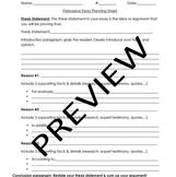 Persuasive Essay Planning Sheet