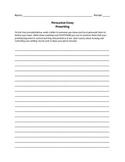 Persuasive Essay Prewriting Activity