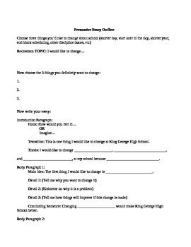 Persuasive Essay- School Changes
