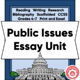 Opinion/Persuasive Essay: Public Issues AND Constitutional