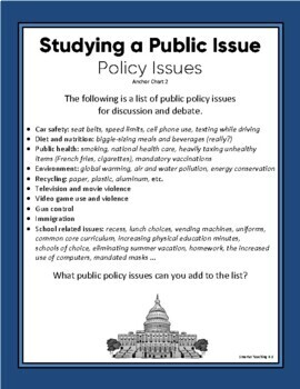 Opinion/Persuasive Essay: Public Issues And Constitutional Beliefs SCAFFOLDED