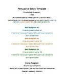 Persuasive Essay Template and Sample Essay