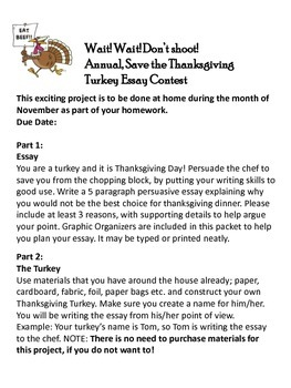persuasive essay thanksgiving turkey contest by geeky teacher tpt persuasive essay thanksgiving turkey contest