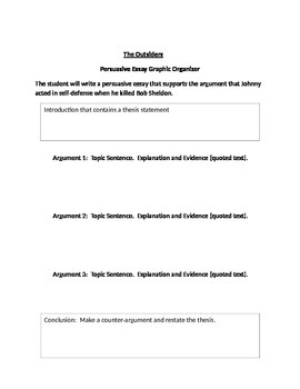 Persuasive Essay - The Outsiders