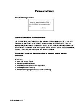 Persuasive Essay Topics for the STAAR Test: Set 3