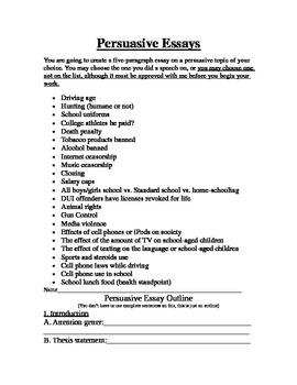 Persuasive Essay Unit