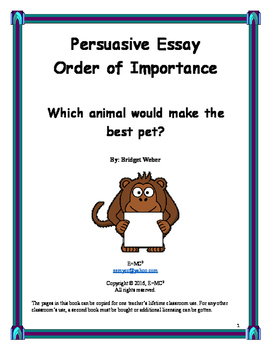 Persuasive Essay: Which animal is the best pet