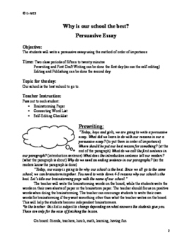 Persuasive Essay: Why our school is the best