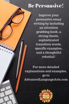 Persuasive Essay Writing Checklist