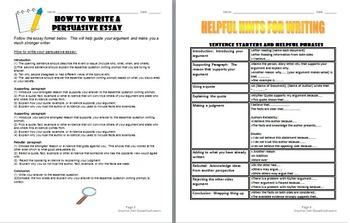 Language Arts Persuasive Essay:  Writing skills that will last a lifetime!