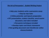 Persuasive Essay and Speech - Guided Writing and Presentin