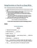 Persuasive Essay prep using Heuristics