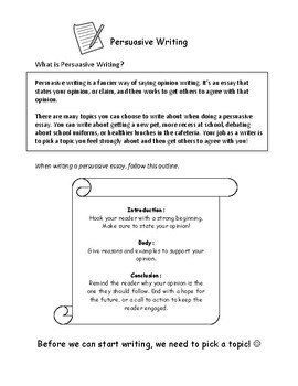 Persuasive Essays Writing Unit