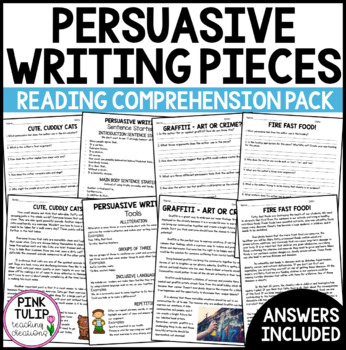 10 Persuasive Texts - Expository Essays with Comprehension Questions