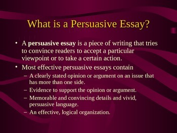Persuasive Expository Writing PowerPoint
