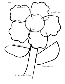 Persuasive Flower Graphic Organizer