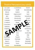 Persuasive High Modal Positive and Negative Descriptors